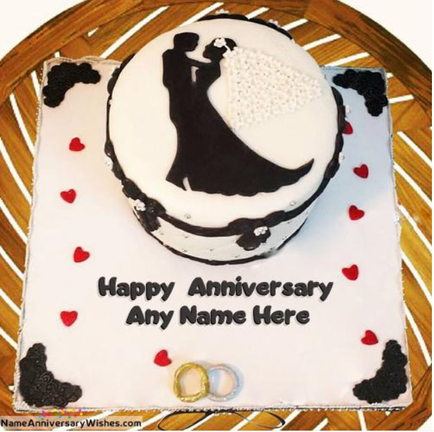 Happy Anniversary Cake With Name And Photo